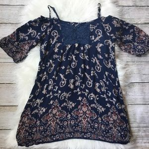 Boho Tunic Cold Shoulder Top by Angie